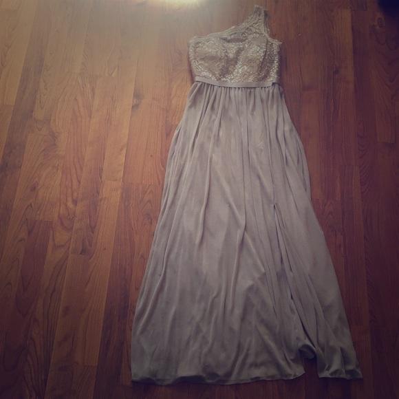 David's Bridal Dresses & Skirts - David's Bridal Gold Metallic bridesmaid dress